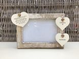 Shabby personalised Chic Photo Frame In Memory Of Grandad ~ Grandfather Any Name
